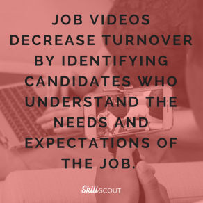 job videos decrease turnover by Identify candidates who understand the needs and expectations of the job. _ (1)