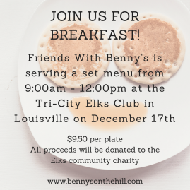 Join us for breakfast!