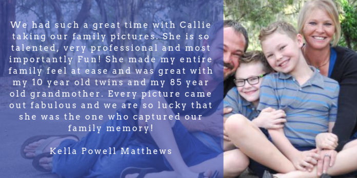 _callie took incredibly beautiful photos of my family on our farm. my two young boys can be hard to manage, and their attention span is very short. she did a wonderful job of keeping t